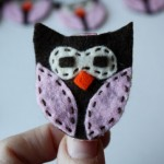 Owl Party Favors: hair clip and finger puppet tutorial