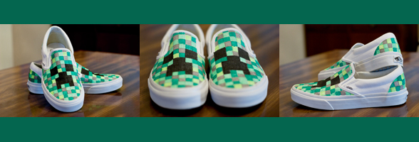 DIY Minecraft shoes