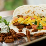 Pecan Tacos with Poblano Sour Cream