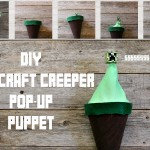 DIY Minecraft Creeper Pop-Up Puppet Tutorial